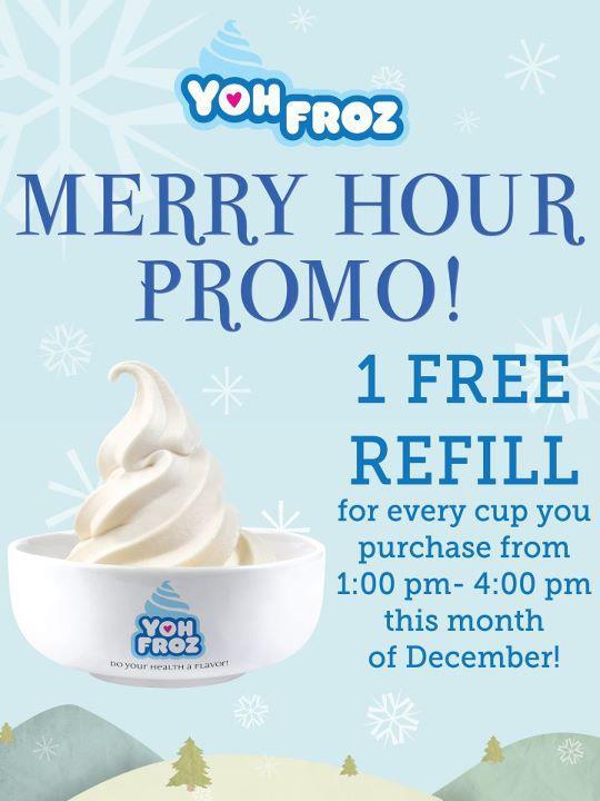 Yoh Froz Davao - Merry Hour Promo - 2
