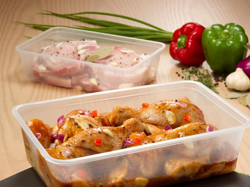 Ready Wrap Containers for meats