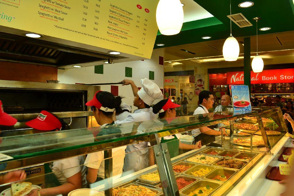 Sbarro Food Counter