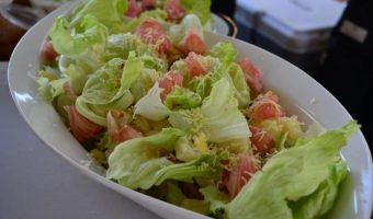 Pomelo Salad with Honey Mustard Dressing