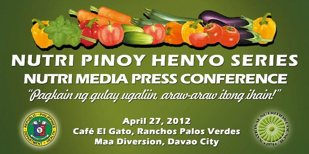 nutri pinoy henyo series National Nutrition Council XI Launches Nutri Pinoy Henyo Series