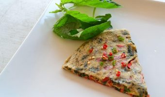 spinach and red pepper fritata