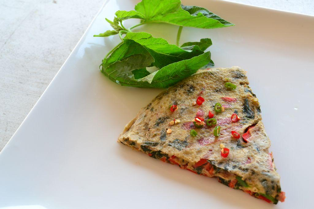 spinach red pepper frittata recipe