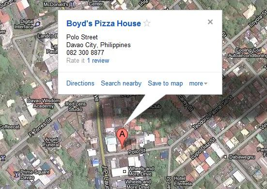 map boyds pizza house Boyds Pizza House: Meaty Jeff Special etc.