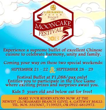 GloriaMaris Mooncake Festival Food Blog Philippines - Food destinations and recipes