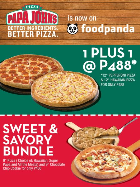 Pinoy Pizza favorite Papa John's Pizza